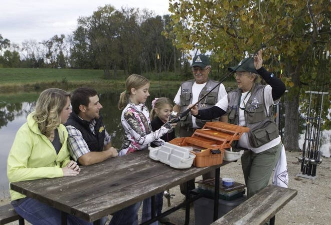 """Families can learn the basics of fishing at free Missouri Department of Conservation MDC. """"Discover Nature - Fishing"""" events on June 29 and July 1 at MDC's Twin Pines Conservation Education Center near Winona."""