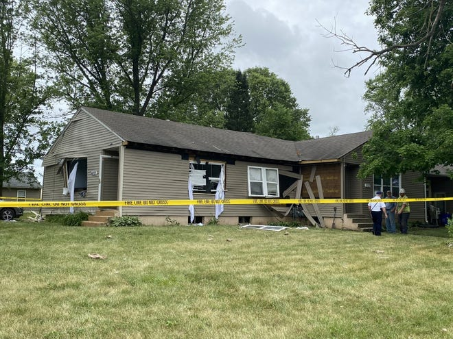 One person was injured during a natural gas explosion at 4305 Eighth St. in Rockford on Saturday, June 26, 2021.