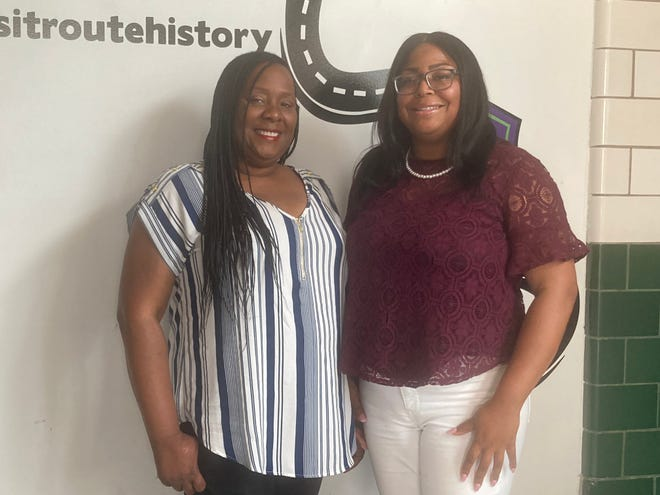Gina Lathan, left, and Stacy Grundy, are two of the owners, along with Kenneth Lockhart, of Route History at 737 E. Cook St. Route History reopens July 9 with a new mural, more outside amenities and updated exhibits.
