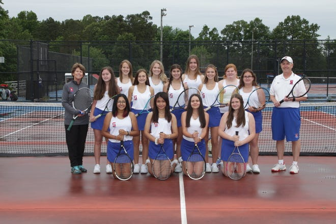 The Southern Alamance girls' tennis team finished a perfect 10-0 in the regular season and as the Mid-Piedmont Conference champions.