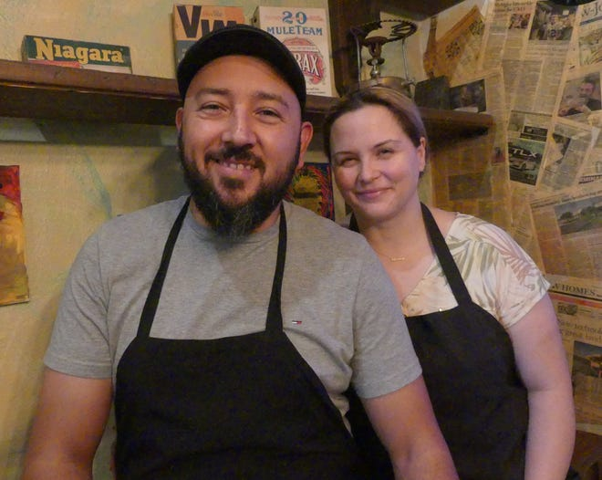 """Ricardo and Ana Gonzalez, the owners of the Pampa-Rara Mexican restaurant in Apple Valley, said they were shocked to discover that Yelp had listed their eatery as one of the """"best seafood restaurants"""" in the U.S."""