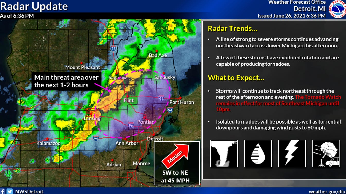 Several tornadoes reported in mid-Michigan as severe storms hit much of state