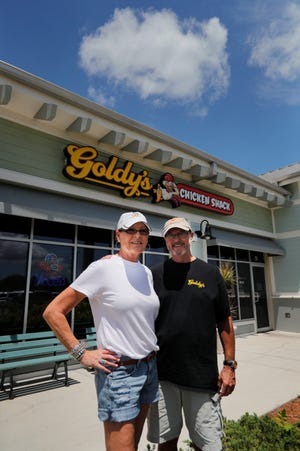 Cindy and Robert Goldsmith are the owners of Goldy's Chicken Shack in Cape Coral. The new restaurant opened at the former Beef 'O' Brady's spot in the shopping center on the corner of Pine Island and Burnt Store roads.