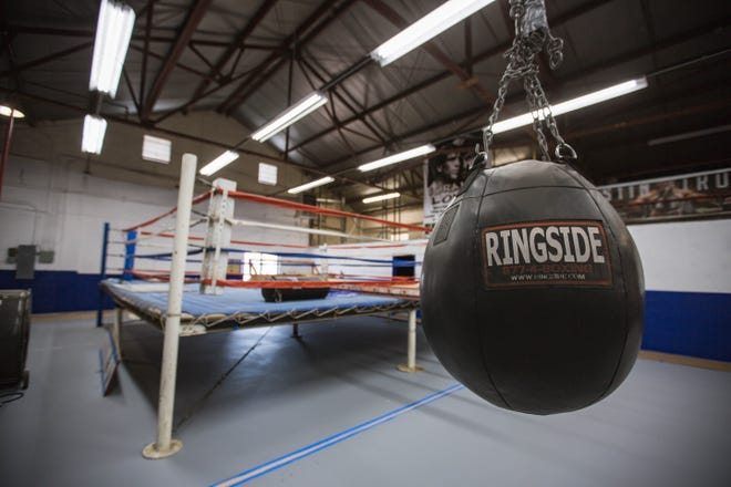 The Sammy Burke Youth Boxing Center is pictured in Las Cruces on Saturday, June 26, 2021, after volunteers gave it a new coat of paint.