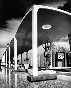 The Spa Hotel colonnade by Julius Shulman.