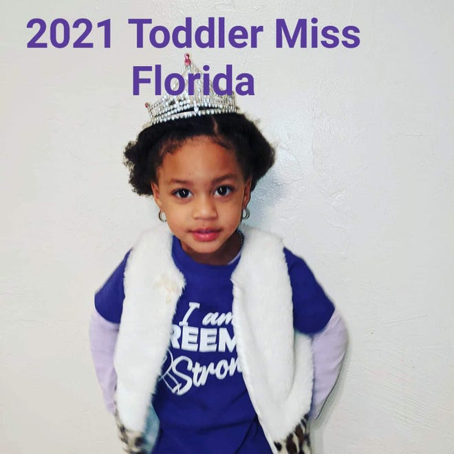 Khloei Jarrett won the title of 2021 Toddler Miss Florida in America's Little Miss Pageant. Advancing to The 2021 Grand Nationals Competition held June 24-June 27 in Orlando.