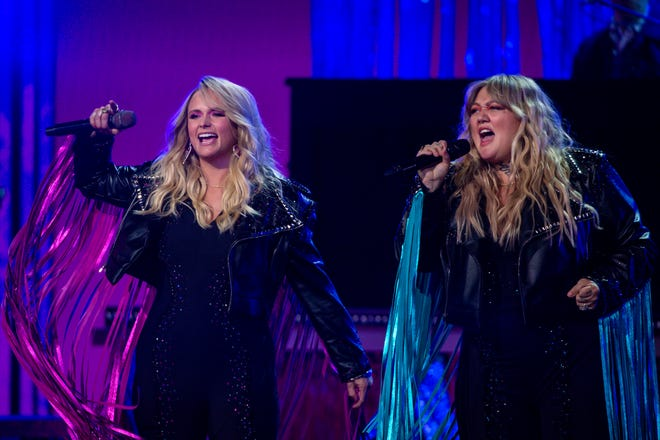 Miranda Lambert – seen here performing at the Grand Ole Opry House during the filming of her performance with Elle King  at the 56th Academy of Country Music Awards on  April 17, 2021 –  will co-headline the Tortuga Music Festival in Fort Lauderdale in November.