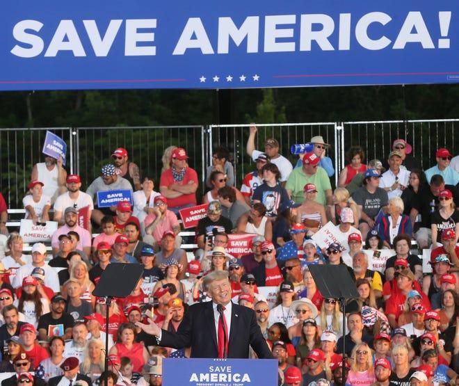 Mandel, Timken, Gibbons: U.S. Senate race backseat at Ohio Trump rally