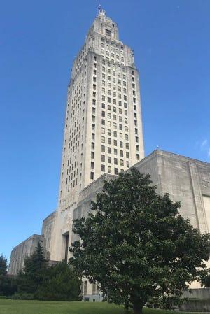 The Louisiana State Capitol.