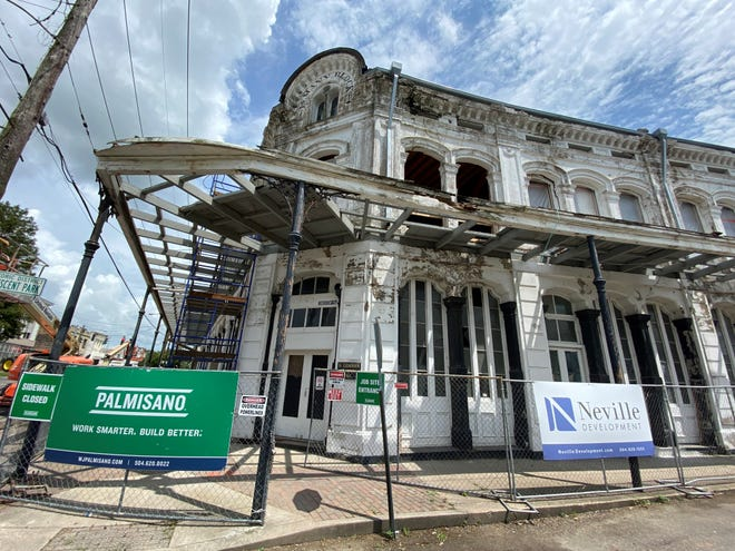 The B. Lemann and Bro. building redevelopment continues in the historic district of Donaldsonville.
