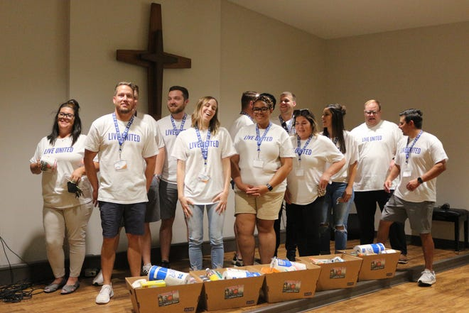 Lubbock Area United Way loaned executives volunteered Friday morning at the Salvation Army in Lubbock.