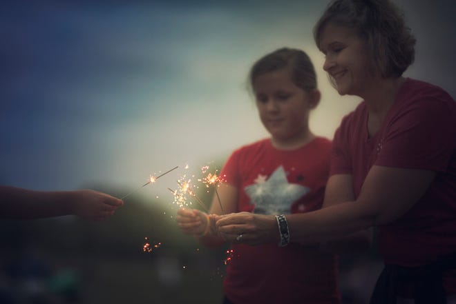 Fireworks is traditionally a part of celebrations over the Fourth of July.