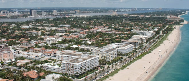 Palm Beach's overall property values have seen a year-over-year increase of 13% to about $28 billion, according to new preliminary estimates from the Palm Beach County Property Appraiser's office.