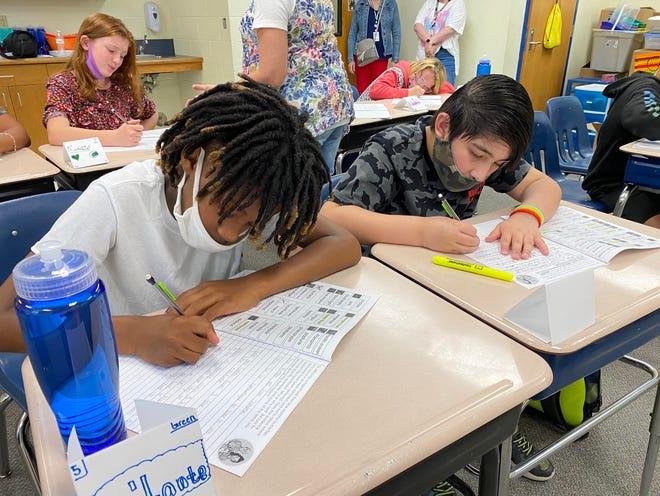 Students participate in a summer school program at Cessna Elementary School in Wichita.