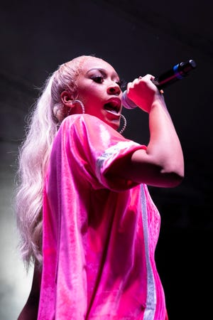 """Milwaukee-born, Atlanta-based rapper Lakeyah dropped her third project within the past 12 months, """"My Time,"""" on Sept. 24. It's a collaboration with DJ Drama, with features from Moneybagg Yo, Tee Grizzley and other big rap acts."""