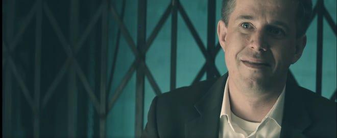 "A screenshot of Cyber Ninja CEO Doug Logan in ""The Deep Rig"" movie."