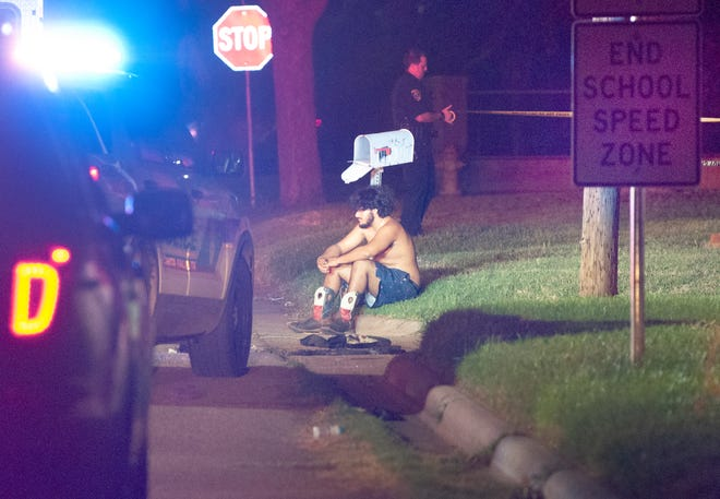 Wichita Falls police worked the scene of a shooting Sunday morning near the intersection of North Strafford Avenue at North Sixth Street.