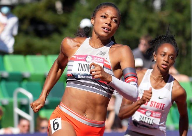 Gabby Thomas a réalisé le meilleur temps au monde cette année pour remporter la finale du 200 mètres aux essais olympiques américains.