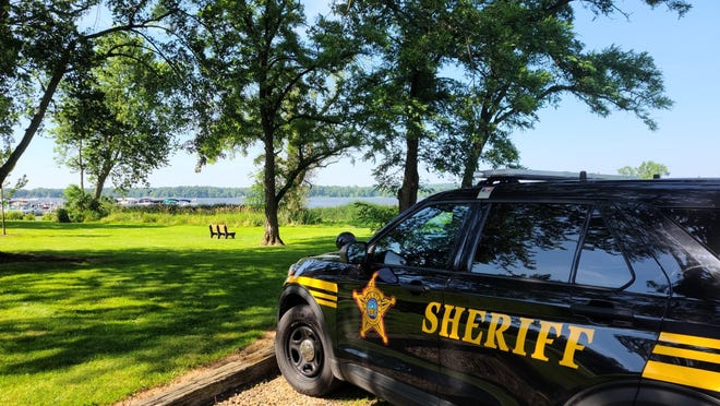 Multiple law enforcement agencies searched Chippewa Lake Sunday for a man who went missing in the water while boating.