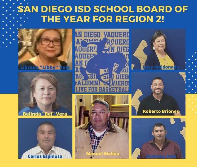 San Diego ISD School Board of the Year for Region 2!