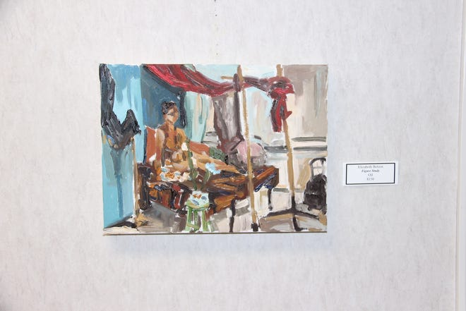 """Betzen's painting """"Figure Study"""" is one of the pieces currently on display at the Goddard Center Art Studio."""