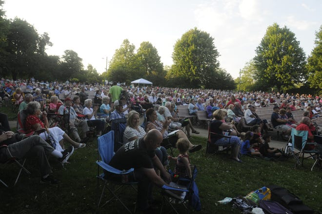 A large crowd turned out for the Ashland Symphony Orchestra Pops in the Park program at Myers Bandshell in Ashland Sunday June 27,2021.STEVE STOKES/FOR TIMES-GAZETTE.COM