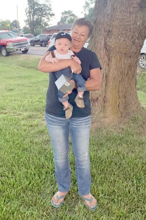 Most Perfect Baby Boy Under 1 Year: Jace Mitchell, son of Clinton and Kendra Mitchell, Bunceton (held by Linda Mitchell, grandmother)