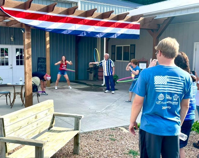A hula hoop contest was one of the many activities during the festival.