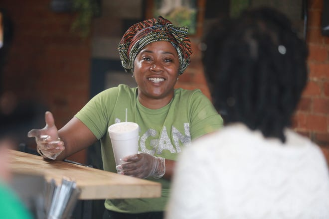 Shanna Dean is the owner of the Lifestyle Cafe, a vegan restaurant at 891 Oak St.