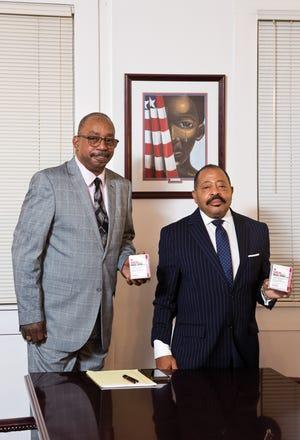 Nathaniel Jordan II, left, and Kappa Foundation president Byron Potts
