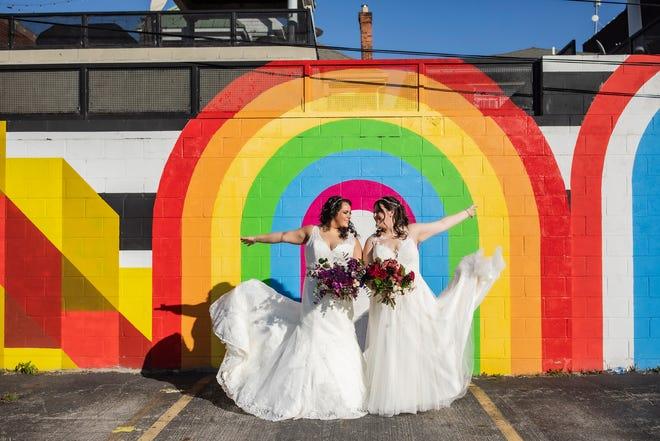 Brittany Razek and Angel Pratt were married Nov. 7, 2020.