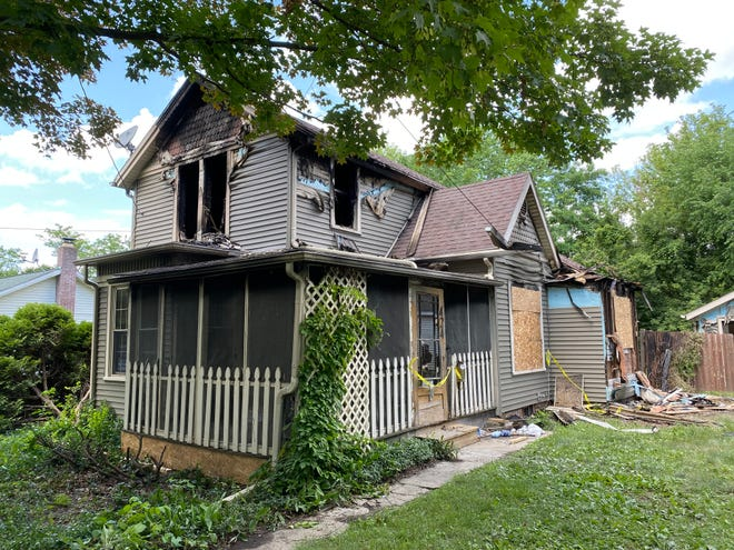 A fire late Sunday night caused extensive damage to the house at 424 Spring St. in Adrian.