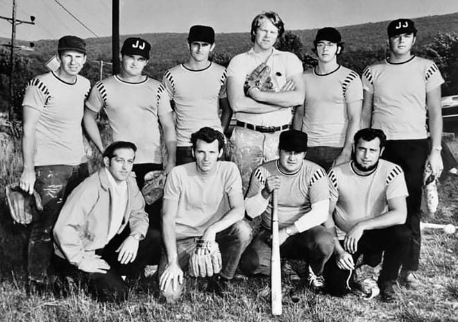 Wayne County has a long and storied history with regard to both competitive and recreational softball. Pictured here are members of a J&J team sometime in the mid-1970s (first row, from left): Jim Chapman, John Kovaleski, Bob Wencosky, Ed Strada. Back row: Roger Foster, Paul Bell, Bill Merring, Joe Morahan, Tom Jenkins, Don Mickel.