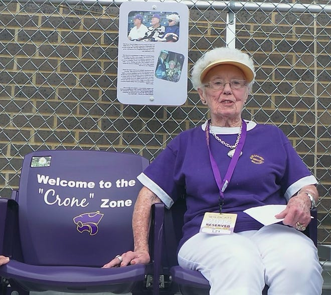 Daisy Crone, the mother of former Blue Springs High School coach and activities director Crone, passed away June 19. She made a positive impact on everyone she met, and was rewarded by the Wildcats with her own pair of seats, on the 50-yard line, to all home football games.