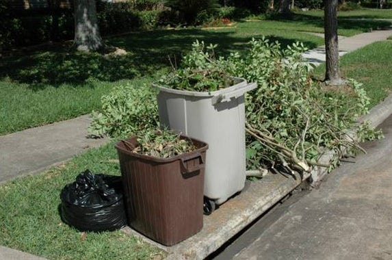 Yard waste is piling up on some area streets due to labor shortages at some of Northeast Florida's biggest waste haulers.