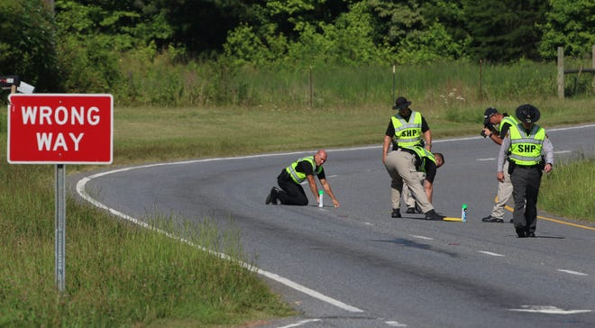 Monday morning members of the NC State Highway patrol investigated the scene of a fatal crash which occurred Saturday night on US 74 near Sparrow Springs Road.