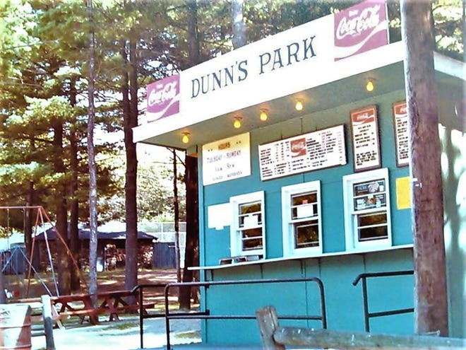 The Dunn's Park Clam Shack as seen in the early 1970s in Gardner.