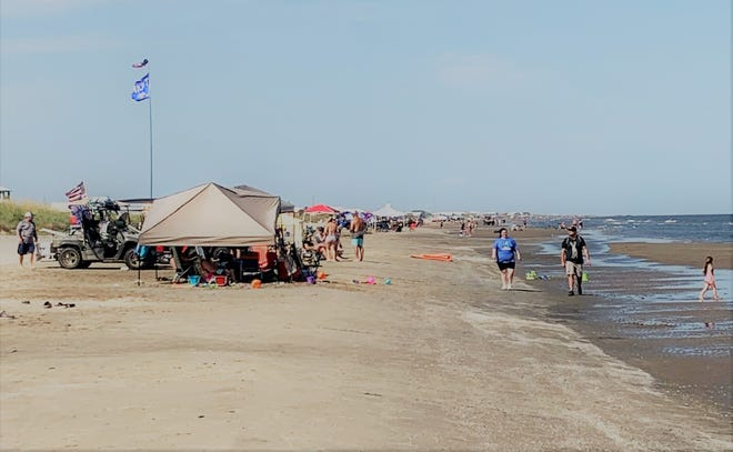 This is what the beach is going to look like during the Tarpon Rodeo. Lots of folks having lots of fun.