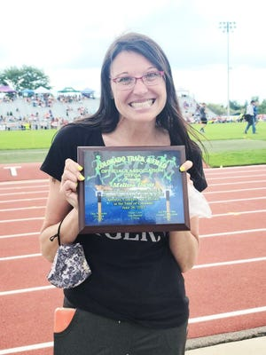 Melissa Davis of La Junta was recognized by the Colorado Track and Field Officials Association with a service award on Saturday.