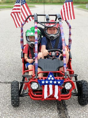 Landon and Dylan Pierce will be participating in the Basehor Fourth of July parade Sunday.