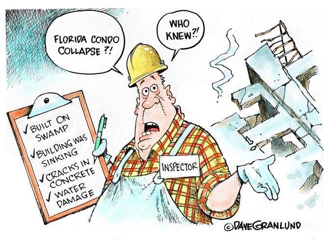 Dave Granlund cartoon on Florida condominium collapse