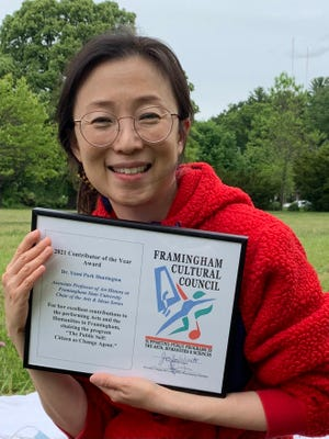 The Framingham Cultural Council awarded the 2021 Contributor of The Year to Dr. Yumi Park Huntington.