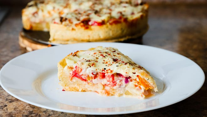 Tomato pie as prepared by Gloria Yoder.