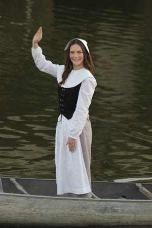 2020-21 Evangeline Emma Hargrove is seen here during the water ceremony last fall.