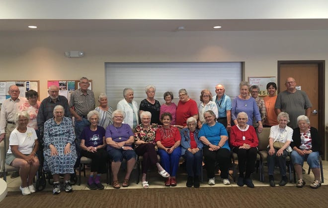 The Kiowa County Senior Center and Meals on Wheels program now serves more thn 50 seniors in the three main towns of Kiowa County. This group picture from 2018 shows the building that was built 10 years ago in Greensburg.