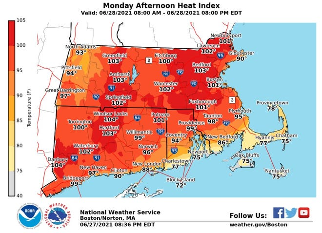 The National Weather Services has issued a heat advisory for the next three days.