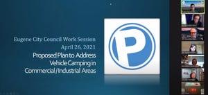 Councilors discuss a plan to address vehicle camping through parking regulations.