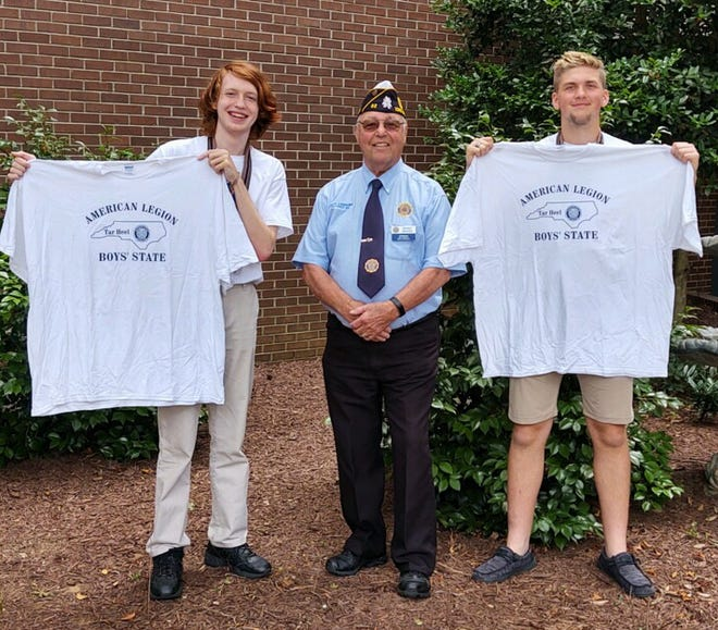 Robert Stockham, left, and Zachary Morrow, right are the first boys from Post 82 to attend Boys National in Washington D.C.