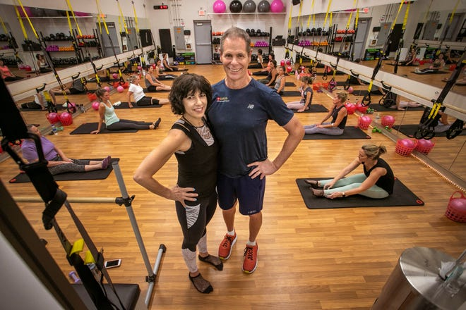 Kim and David Hackett founded Body by Barre Fitness in Venice. Their new studio, B Fitness and Smoothies, has opened up in Venice's Jacaranda Plaza. MATT HOUSTON / HERALD-TRIBUNE