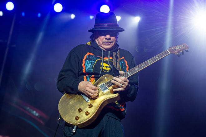 Carlos Santana will perform at the Tuscaloosa Amphitheater on Sept. 24.